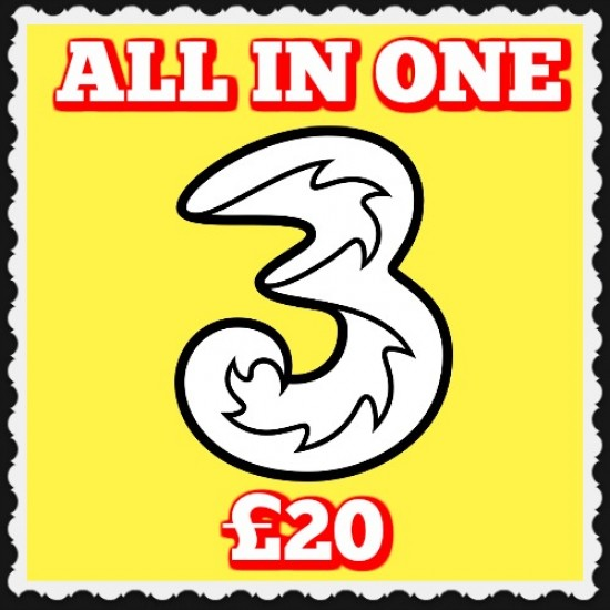3 Mobile All-In-One-20 Free Sim and Postage