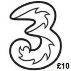3 Mobile £10 Topup Voucher Code