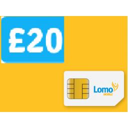 Lomo Mobile £20 Topup Voucher