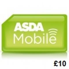 Asda Mobile £10 Topup Voucher