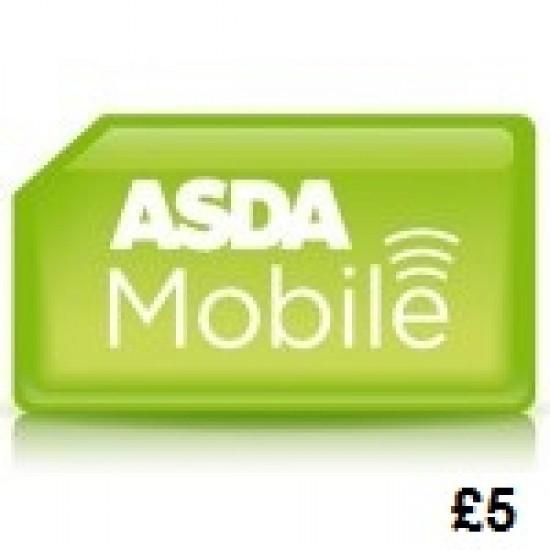 Asda Mobile £5 Topup Voucher