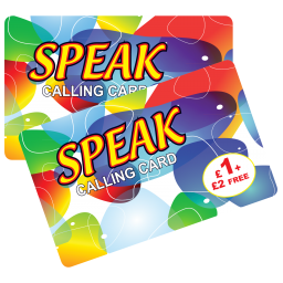 Speak £1 + £2 Free International Calling Card