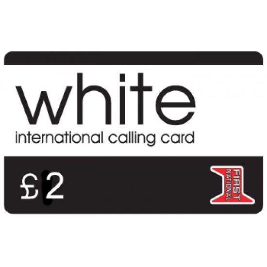 White £2 International Calling Card