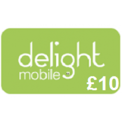 Delight Mobile £10 Topup Voucher
