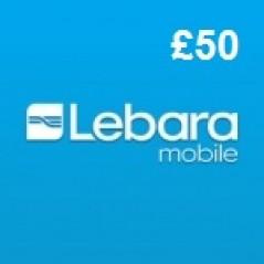Lebara Mobile £50 Topup Voucher