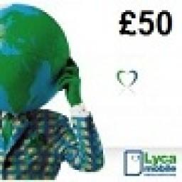Lycamobile £50 Topup Voucher
