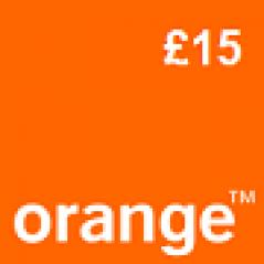 Orange £15 Topup Voucher