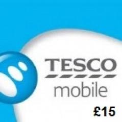 Tesco Mobile £15 Topup Voucher