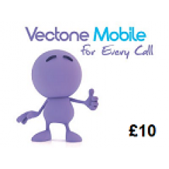 Vectone Mobile £10 Topup Voucher