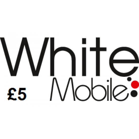 White Mobile £5 Topup Voucher