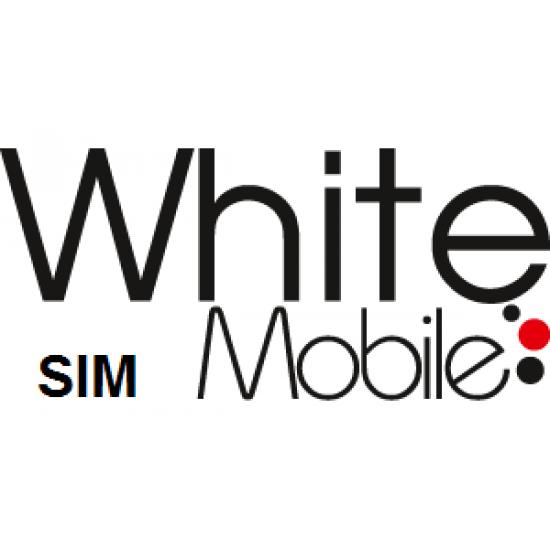 White Mobile Pay As You Go SIM