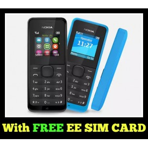 Nokia ‎105 2017 Unlocked with free EE SIM card