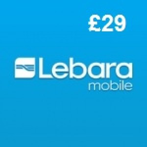 Lebara Mobile £29 Topup Voucher