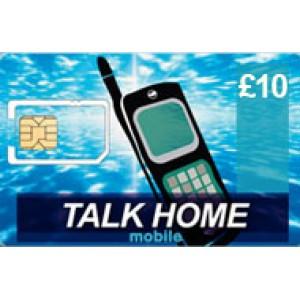 Talk Home Mobile £10 Topup Voucher