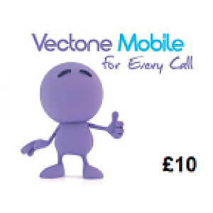 Vectone Mobile £10 Topup Voucher