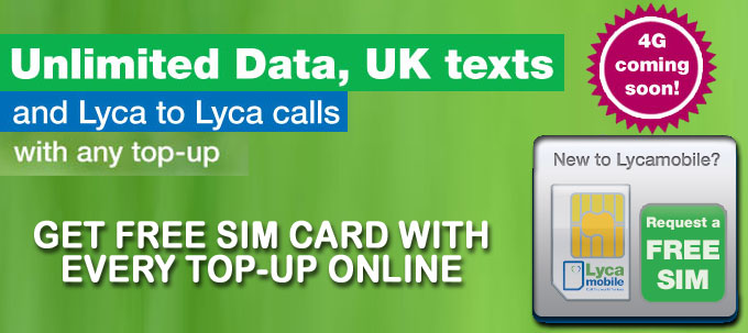 Free Lycamobile Pay As You Go Sim Card